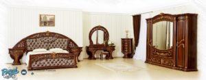 Set Kamar Tidur Mewah Jati Ukir Gold Furniture Bedroom Terbaru
