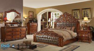 Set Kamar Tidur Mewah Kayu Jati Victorian Bedroom Set