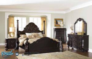 Set Kamar Tidur Mewah Model Antique Style Furniture Jati Klasik Jepara