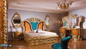 Set Kamar Tidur Mewah Saltanat Ceviz Model Furniture Mewah Terbaru