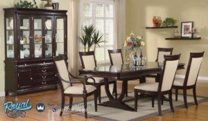 Set Kursi Meja Makan Kayu Jati Beverly Furniture Mewah Terbaru