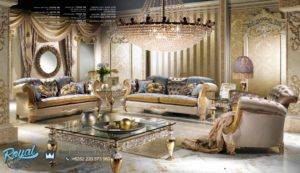 Set Kursi Sofa Tamu Mewah Aliando Furniture Ruang Tamu Mewah Terbaru