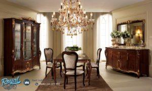 Set Meja Makan Classic Dining Room Jati Mewah Terbaru