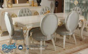 Set Meja Makan Mewah Alize Funiture Set Modern Design Terbaru