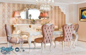 Set Meja Makan Mewah Arnica Dining Room Set Modern Klasik Mewah Terbaru
