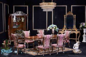 Set Meja Makan Mewah Barococo Set Furniture Dining Room Terbaru