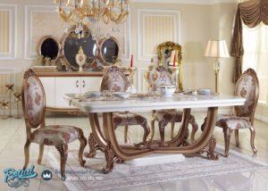 Set Meja Makan Mewah Klasik Furniture Dining Room Terbaru