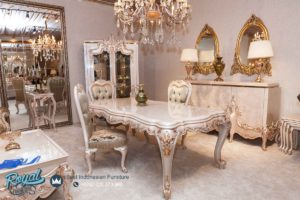 Set Meja Makan Mewah Remonia Furniture Dining Room Sets Ukir Terbaru