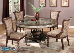Set Meja Makan Traditional Dining Room Classic Round Table Terbaru