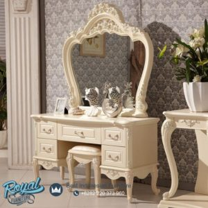 Set Meja Rias Mewah Combine European Furniture Ukir Terbaru