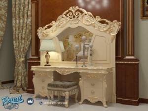 Set Meja Rias Mewah Dressing Table Klasik Ukiran Mewah Jepara Terbaru