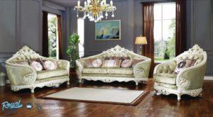 Set Sofa Tamu Mewah Doly Klasik Furniture Living Room Ukir Terbaru
