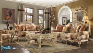 Set Sofa Tamu Mewah Furniture Ruang Tamu Klasik Mewah Terbaru