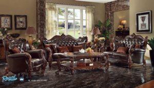 Set Sofa Tamu Mewah Janet Kayu Jati Furniture Living Room Terbaru