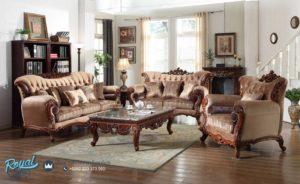 Set Sofa Tamu Mewah Nelias Furniture Set Ruang Tamu Klasik Ukiran Terbaru