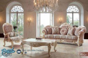 Set SofaTamu Mewah Florya Klasik Furniture Ruang Tamu Terbaru