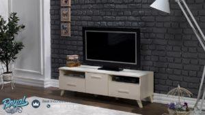 Bufet TV Minimalis Selina Full Duco White Model Bufet Modern Desain Terbaru