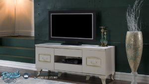 Bufet TV Minimalis Sementa White Duco Interior Furniture Minimalis Terbaru