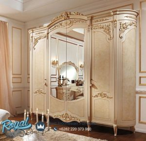 Lemari Pakaian Mewah Spalnya Reggenza Luxury 4 Pintu Terbaru