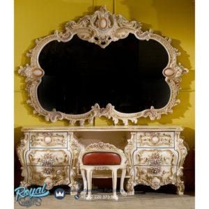 Meja Rias Mewah Victorian Klasik Italian Baroque Terbaru
