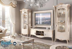 Set Almari Hias dan Bufet TV Victoria White Modern Design Terbaru