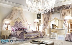 Set Kamar Tidur Mewah Furniture Bedroom Dipan Mewah Ukiran Terbaru