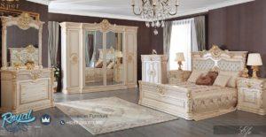 Set Kamar Tidur Mewah Gold Imperial Bedroom Set Efen Mewah Terbaru