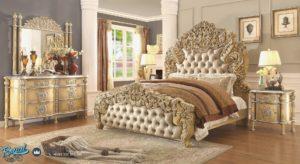 Set Kamar Tidur Mewah Ukiran Eurpean Classic Design Mewah Terbaru