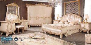 Set Kamar Tidur Mewah White Classic Model Bedroom Set Mewah Terbaru
