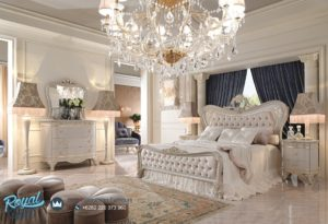 Set Kamar Tidur Mewah White Luxury Dismante Model Bedroom Mewah Terbaru