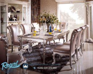 Set Kursi Meja Makan Mewah Elegan Luxury Silver Chairs Terbaru