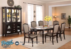 Set Meja Makan Kayu Jati Simple Dining Room Set Mewah Terbaru