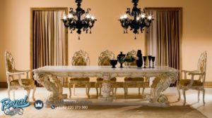 Set Meja Makan Mewah Dining Room Table Luxury Gold Terbaru