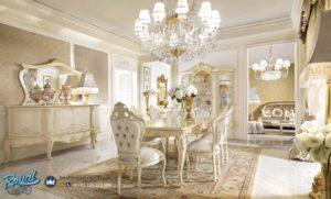 Set Meja Makan Mewah Duco Putih Luxury David Model Terbaru