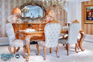 Set Meja Makan Mewah Victoria Ukir Jati Mewah Set Terbaru