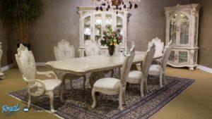 Set Meja Makan Mewah White Luxury Villa American Style Terbaru
