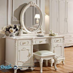 Set Meja Rias White Cantik Duco Mewah Terbaru