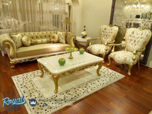 Set Sofa Tamu Mewah Furniture Living Room Klasik Model Terbaru