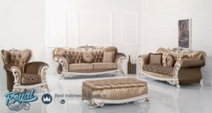 Set Sofa Tamu Mewah Racoco Ukiran Mewah Jepara Terbaru
