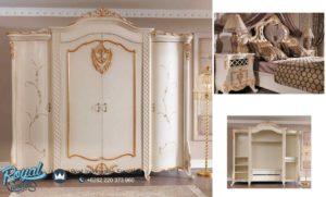 Lemari Pakaian Empat Pintu Ruya Yatak Duco Putih Terbaru