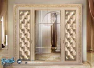 Lemari Pakaian Mewah Kupe Klasik Pintu Kaca Mewah Terbaru