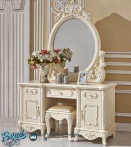 Meja Rias Mewah Duco Putih Victorian Klasik Terbaru