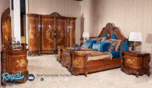 Set Kamar Tidur Jati Mewah Prestige Furniture Set Terbaru
