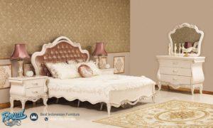 Set Kamar Tidur Mewah Alika White Klasik Model Bedroom Terbaru