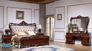 Set Kamar Tidur Mewah Jati Klasik Luciana Ukiran Terbaru