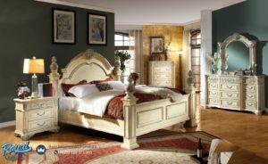 Set Kamar Tidur Mewah Sienna White Europe Klasik Terbaru