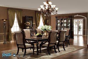 Set Kursi Meja Makan Mewah Model Dining Room Elegan Terbaru