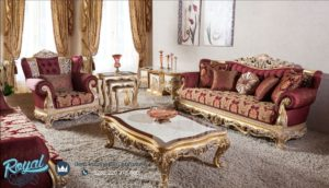 Set Kursi Tamu Sofa Dominique Classic Mewah Jepara Terbaru