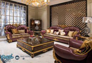 Set Kursi Tamu Sofa Mewah Fancy Sofa Set Antique Terbaru