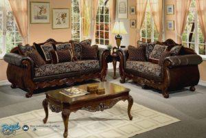 Set Kursi Tamu Sofa Mewah Jati Klasik Baroko Wood Terbaru